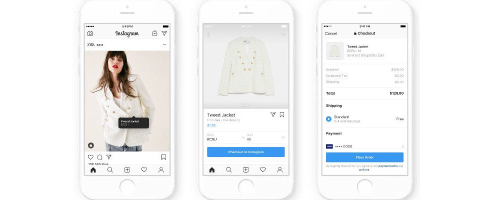 Instagram testet In-App Checkout für Shopping
