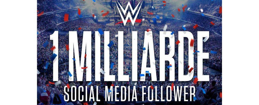 Auch dank Influencern: WWE knackt 1 Milliarde Follower in Social Media