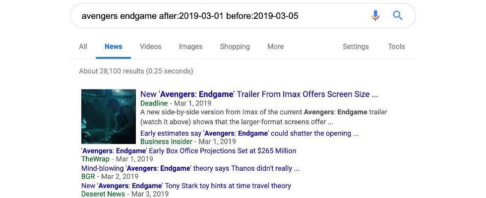 Davor und danach: Neue Suchfunktion bei Google grenzt Ergebnisse ein
