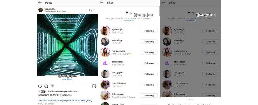 Instagram: Wird die Zahl der Likes bald nicht mehr angezeigt?