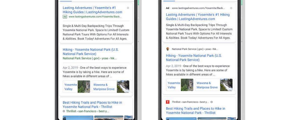 Logos, Content Teaser und mehr: Google Search krempelt seinen Look um