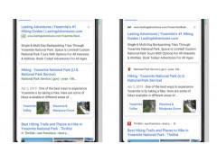 SERP-Design bei Google (Mobile) alt vs. neu
