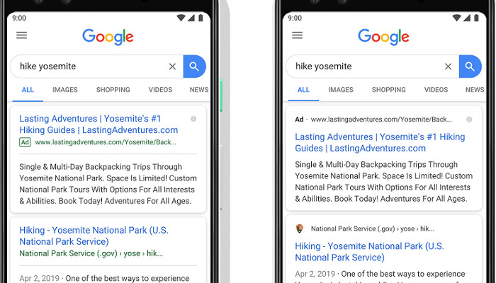 Google bringt grünes Ad Label für mobile Suche nicht zurück