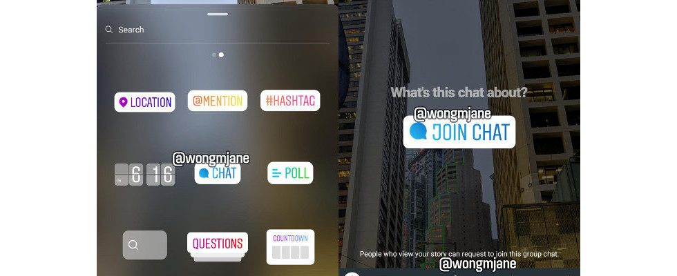 Von der Story direkt zum Gruppenchat: Instagram testet neues Feature
