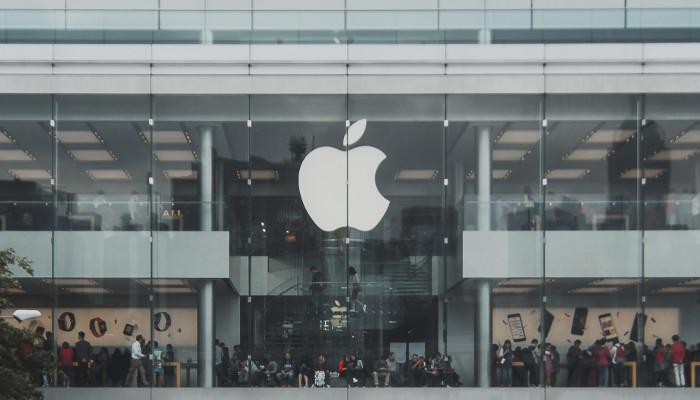 Apple Sign auf Gebäude