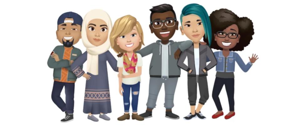 Konkurrenz für Snapchats Bitmojis: Facebook Avatars