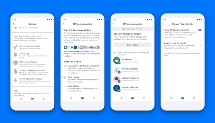 Off-Facebook Activity: Nutzer erhalten die Kontrolle über gesammelte Daten