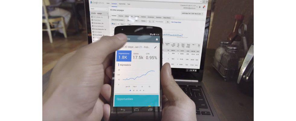 Die Google Ads App zeigt jetzt Optimization Score an