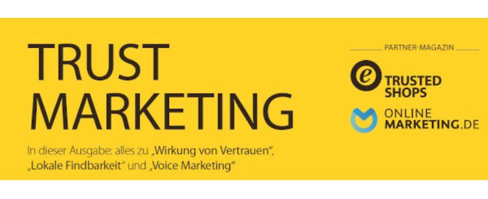 "Kurz erwähnt: ""Trust Marketing"" Magazin"