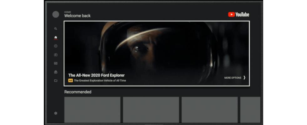 Fast bildschirmfüllend: YouTube Masthead Ads in der TV App