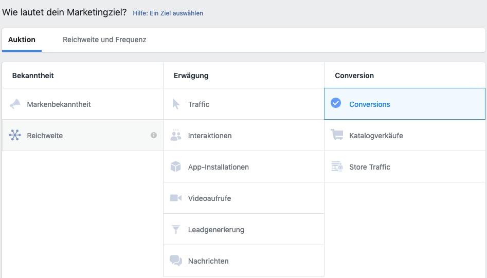 Das richtige Marketing-Ziel für deine Facebook-Kampagne | OnlineMarketing.de