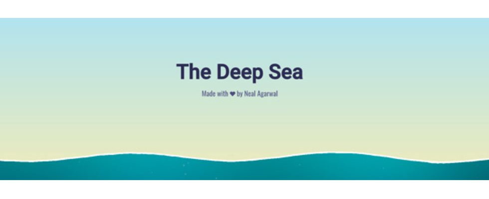 Kurz erwähnt: The Deep Sea
