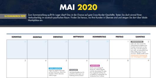 Ein Einblick in den E-Commerce-Kalender von ChannelAdvisor mit seinen Tipps und Hinweisen.
