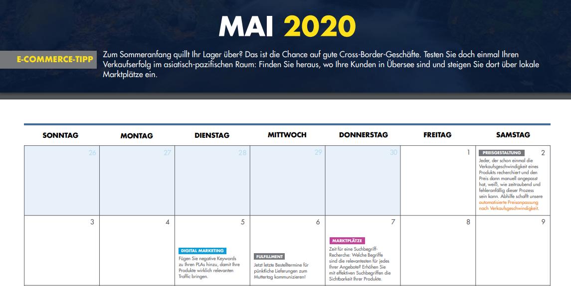 Dein E-Commerce-Kalender 2020: Alltagshelfer mit Themen, Trends und Veranstaltungen | OnlineMarketing.de
