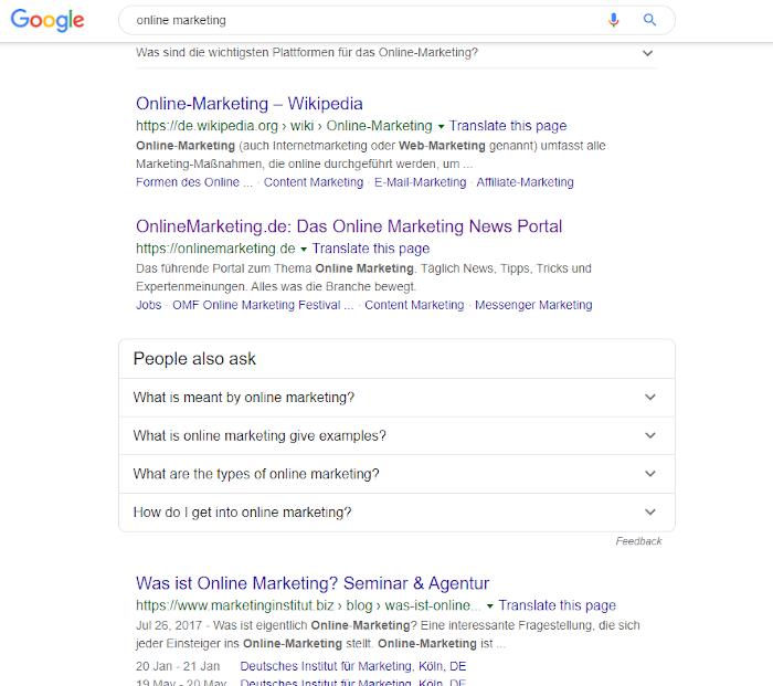 Google-Suche auf Desktop im alten Design