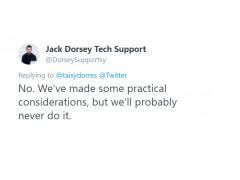 In diesem Screenshot erteil Twitter CEO dem Edit Button eine absage