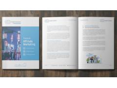 Aufgeschlagenes Buch, Playbook Affiliate Marketing