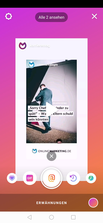 Instagram: Erwähnung in den Stories einfach sehen | OnlineMarketing.de
