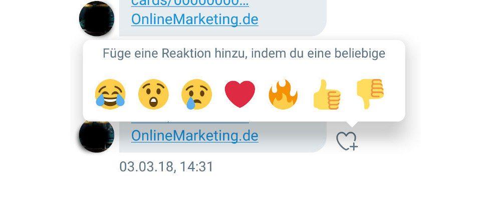 Wie bei Facebook: Bei Twitter gibt es jetzt Emojis in den Direct Messages