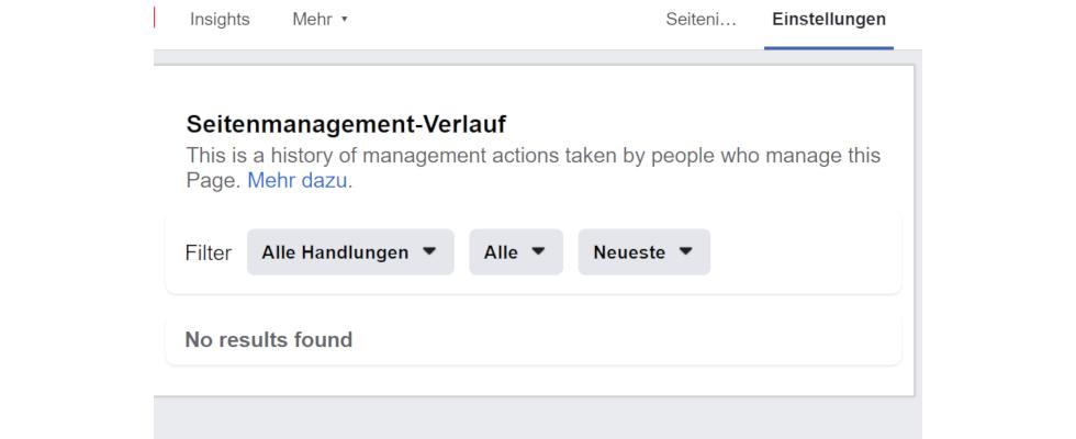 Facebook: Neues Page Management History Feature sorgt für Transparenz