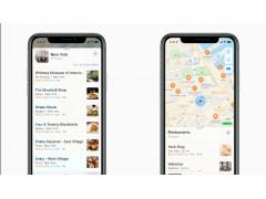 Zwei Smartphone, auf denen das Redesign von Apple Maps zu sehen ist