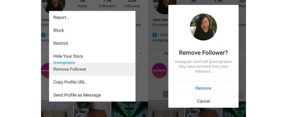 Instagram Test: Mit neuem Feature können Follower einfacher gelöscht werden