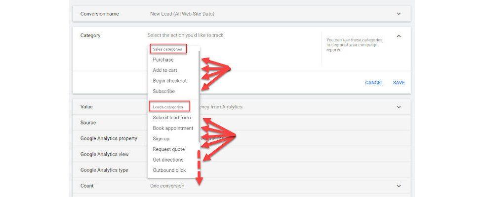 Google Ads testet neue Tracking-Kategorien für Conversions