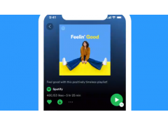 Smartsphone Screen: Neues Layout für Spotify bei iOS