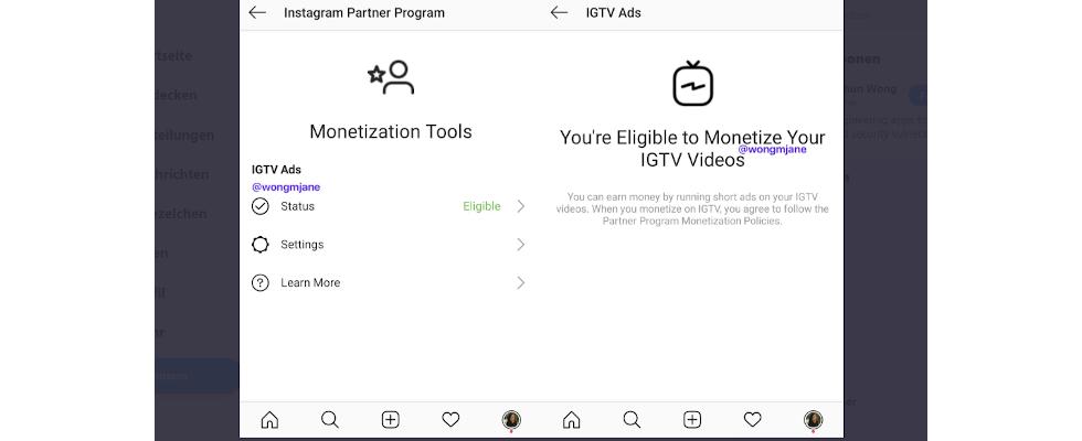Monetarisierung für Creator: Instagram testet Ads für IGTV