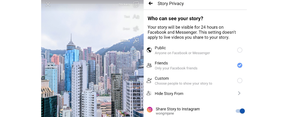 Facebook arbeitet am Cross Posting von Stories auf Instagram