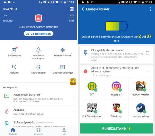 App-Übersicht: Die Clean Master Android App