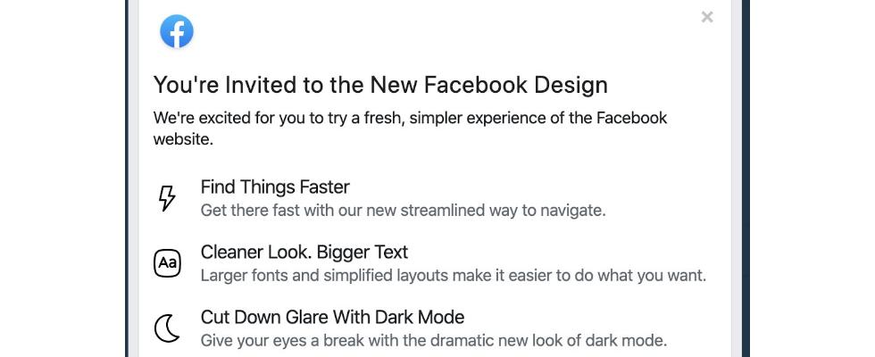 Erste Bilder von Facebooks neuem Desktop-Design – inklusive Dark Mode