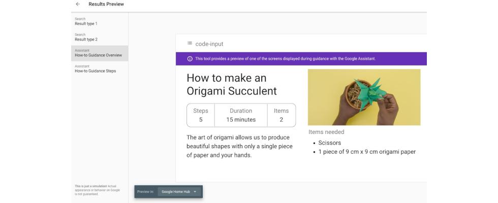 Google ermöglicht Preview von How-to Markup auf Smart Displays