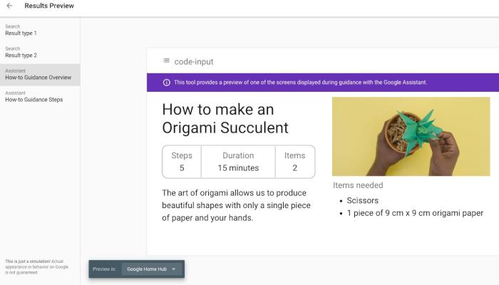 How-to-Aktion bei Google auf einem Smart Display