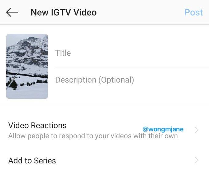Screenshot IGTV Video Responses