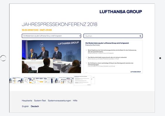 Lufthansa, digitale Konferenz