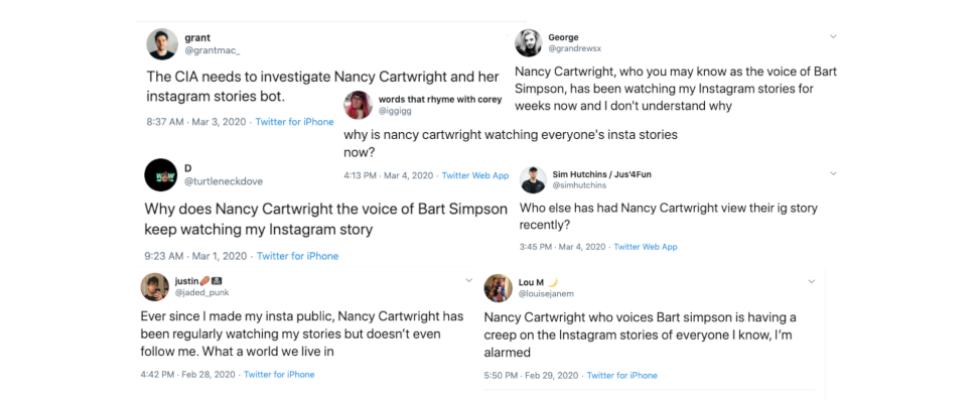 """""""Huch – Nancy Cartwright guckt meine Instagram Stories"""""""