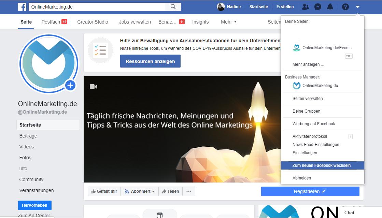 Facebook Neues Design Aktivieren