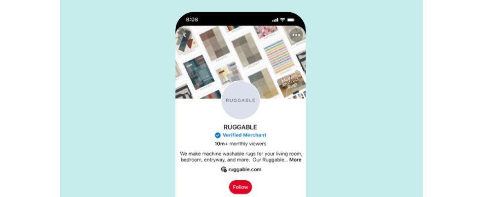 Blauer Haken bei Pinterest: Unternehmen können sich ab sofort verifizieren lassen