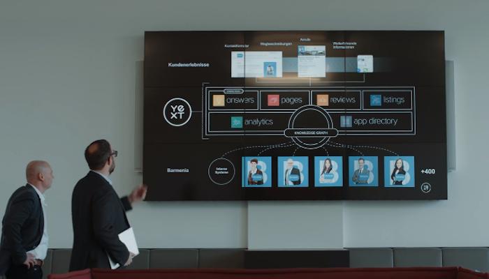 Bildschirm mit Yext-Lösungen
