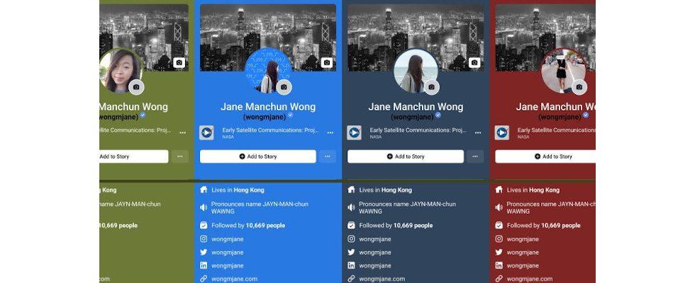 Facebook Tests entdeckt: Bunte Profile und Hilfe-Sticker