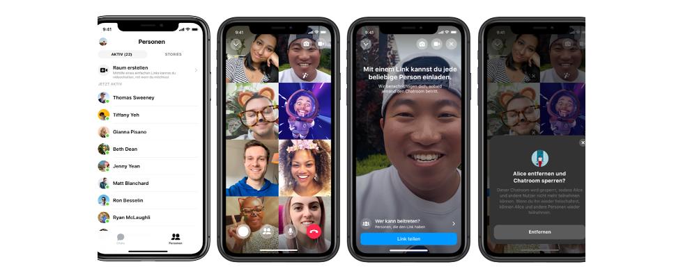 Videocalls auf Facebook: Zuckerberg kündigt neue Features und Facebook Rooms an