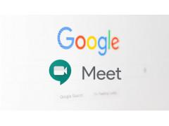 Google Startbildschirm mit Meet Logo