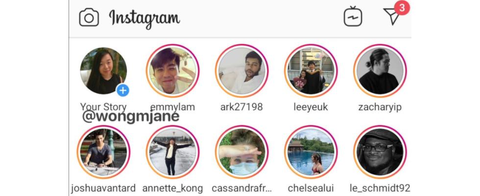 Instagram Stories: Neues Layout im Test