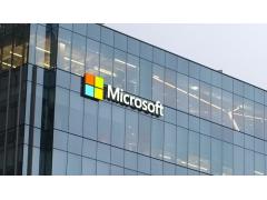 Microsoft Logo auf Gebäudefassade