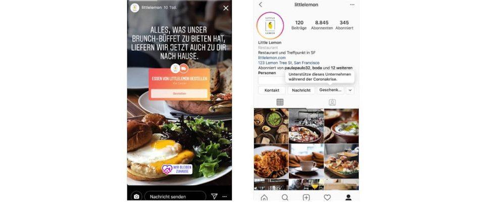 Neues für die Story:  Instagram möchte kleine Unternehmen unterstützen und testet Challenge Sticker