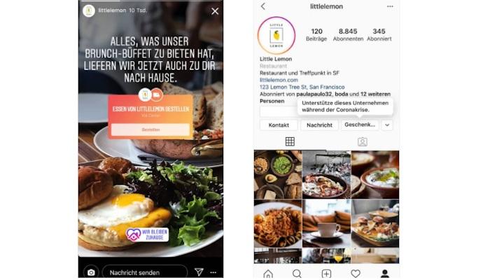 Screenshots der neuen Stricker für die Instagram Story