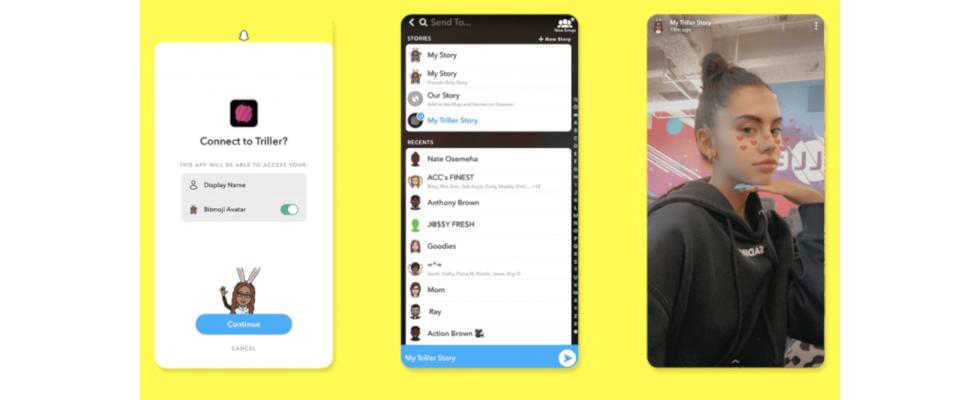 Snapchat Stories nun auch außerhalb der App