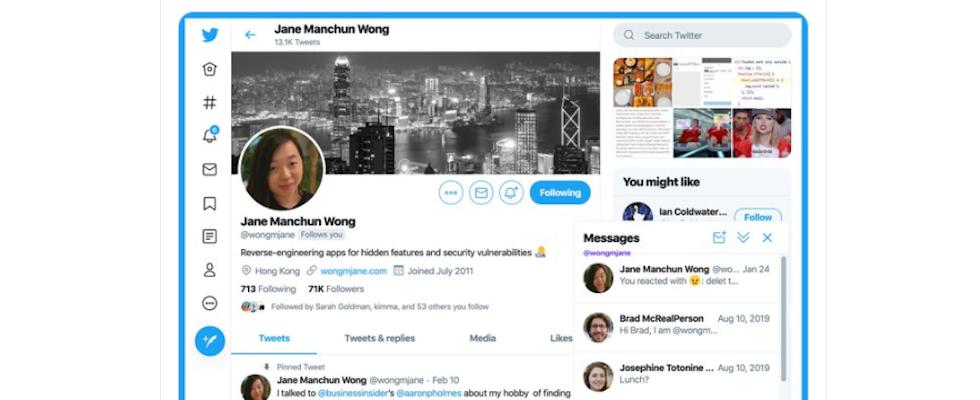 Mehr wie Facebook? Twitter arbeitet an Messenger-Fenster in Web App
