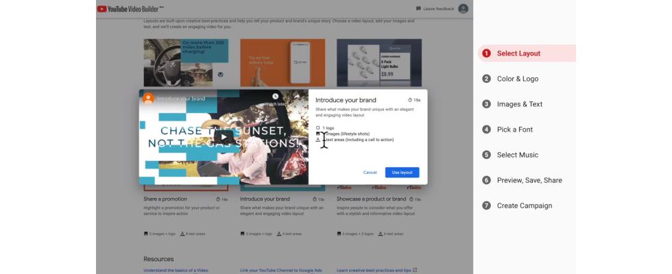 Neues Tool von YouTube: Video Builder für einfach erstellte Ads
